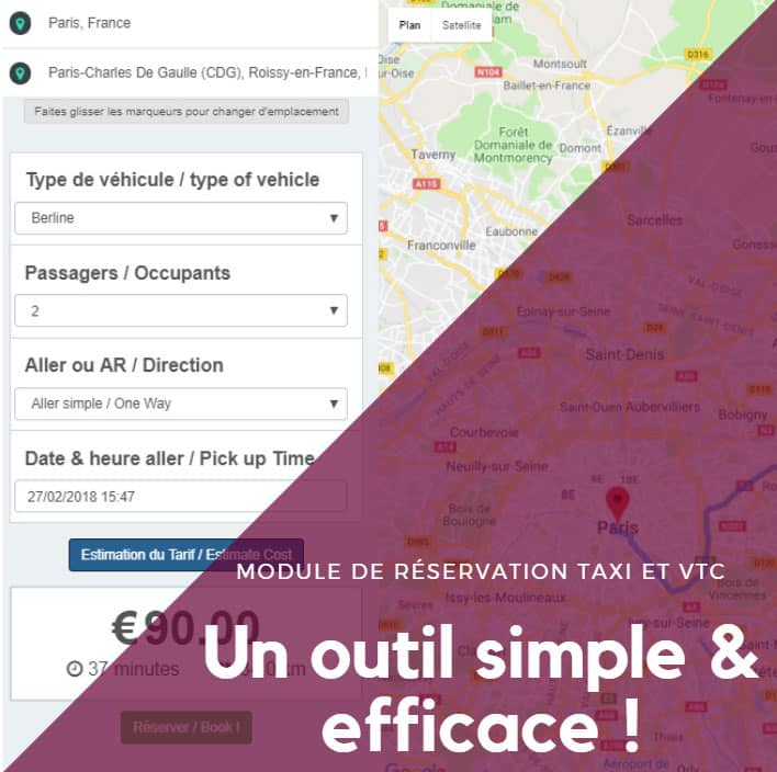 Module de réservation WordPress pour Taxi et VTC