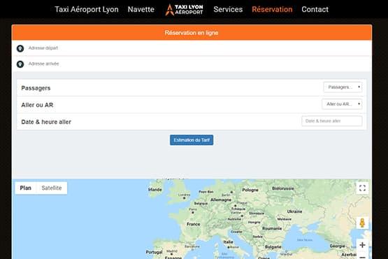Module de réservation VTC Aéroport Lyon