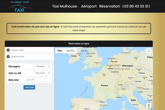 Module de réservation Taxi à Mulhouse