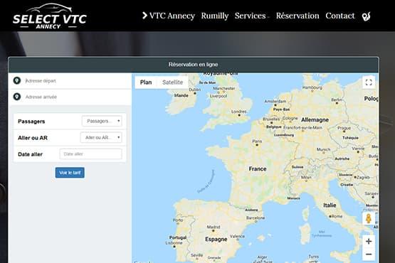 Module de réservation VTC Annecy Rumilly