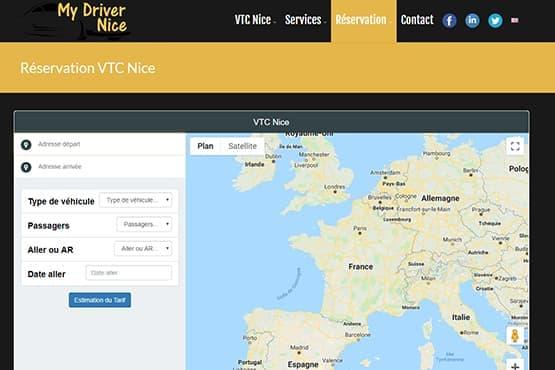 Module de réservation VTC Nice